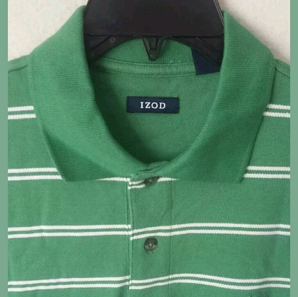 IZOD Other - T-Shirt Size Medium IZOD Green White Striped